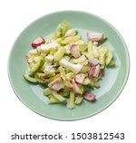 salad with cucumbers and eggs...