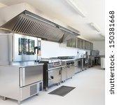 professional kitchen in modern... | Shutterstock . vector #150381668