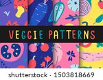 collection of vegetable... | Shutterstock .eps vector #1503818669