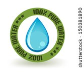 pure water icon | Shutterstock .eps vector #150381890
