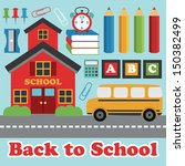 back to school card design.... | Shutterstock .eps vector #150382499