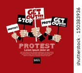 protest concept illustration... | Shutterstock .eps vector #150383936