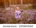 Little girl iw walking in the...