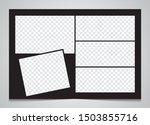 templates collage 5 frames... | Shutterstock .eps vector #1503855716