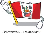 okay flag peru character shaped ... | Shutterstock .eps vector #1503863390