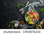 healthy vegetable buddha bowl...