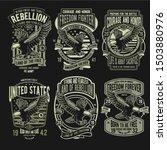 rebellion eagle badge design... | Shutterstock .eps vector #1503880976
