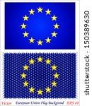 european union flag background | Shutterstock .eps vector #150389630