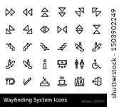 wayfinding icon set. stairs... | Shutterstock .eps vector #1503902249