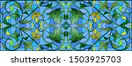 illustration in stained glass... | Shutterstock .eps vector #1503925703