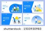set of creative website...   Shutterstock .eps vector #1503930983