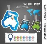 sticker. australia. world map... | Shutterstock .eps vector #150393896