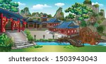 the ancient chinese village in... | Shutterstock .eps vector #1503943043