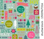 cute christmas elements and fun ... | Shutterstock .eps vector #1503967316