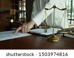 Lawyer Working With Contract...