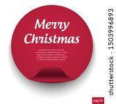 red christmas banner red  web... | Shutterstock .eps vector #1503996893