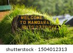 welcome to mandara 2720 m sign  ... | Shutterstock . vector #1504012313