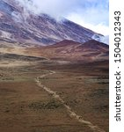 road to kilimanjaro mountain ... | Shutterstock . vector #1504012343
