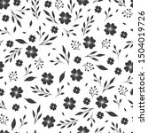 seamless vintage floral pattern ... | Shutterstock .eps vector #1504019726