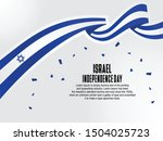 Happy Israel National Day Celebration vector template, Israel flag background, Background Concept for Independence Day and other events, Vector Illustration Design.
