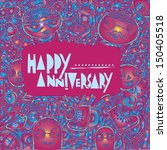 vector anniversary greeting... | Shutterstock .eps vector #150405518