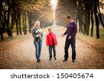 family portrait outdoors in... | Shutterstock . vector #150405674