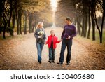 family portrait outdoors.... | Shutterstock . vector #150405680