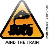 vector of alert sign 29 train