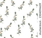 hand drawn omela mistletoe on... | Shutterstock .eps vector #1504094639