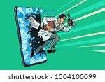scientific breakthrough. mobile ...   Shutterstock .eps vector #1504100099