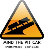 vector of alert sign 34 pit car