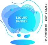 modern gradient liquid design...   Shutterstock .eps vector #1504143353