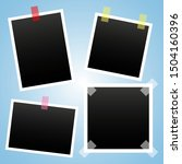 photo vector set icons isolated ... | Shutterstock .eps vector #1504160396