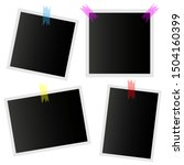 photo vector set icons isolated ... | Shutterstock .eps vector #1504160399