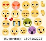 set of funny emoticons.emoticon ... | Shutterstock .eps vector #1504162223