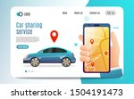 car sharing service advertising ... | Shutterstock .eps vector #1504191473