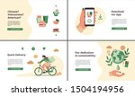 set of web landing pages for... | Shutterstock .eps vector #1504194956