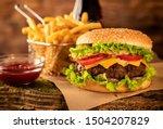 Hamburger With Cheese And...