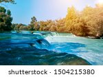 View Of A Large River With A...