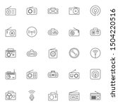 simple set of radio icons...