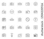 simple set of radio icons...