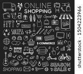 online shopping vector icon set.... | Shutterstock .eps vector #1504223966