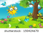 the happy and colorful... | Shutterstock . vector #150424670