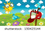 the happy and colorful... | Shutterstock . vector #150425144