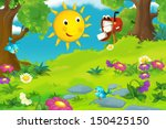 the happy and colorful... | Shutterstock . vector #150425150