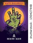 halloween zombie poster | Shutterstock .eps vector #150427448
