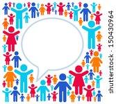 social networking  speech cloud   Shutterstock .eps vector #150430964