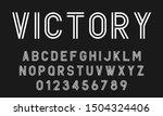 set of alphabets font letters... | Shutterstock .eps vector #1504324406