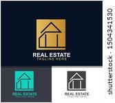real estate logo design. ... | Shutterstock .eps vector #1504341530