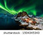 Aurora Borealis Over Hamnoy In...